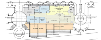 Casino Second Level Restaurant / Race Betting Floor Plan